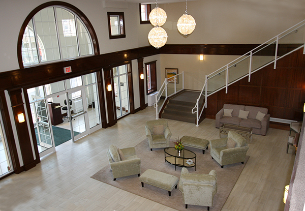 The Lobby of The Cambium, Byron Place, Larchmont, NY Luxury condominium apartments.