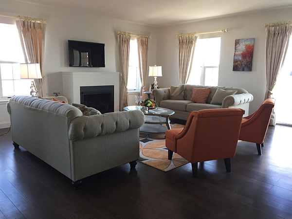Gracious and spacious living space is perfect for entertaining at the Cambium