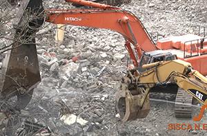 Sisca does demolition.